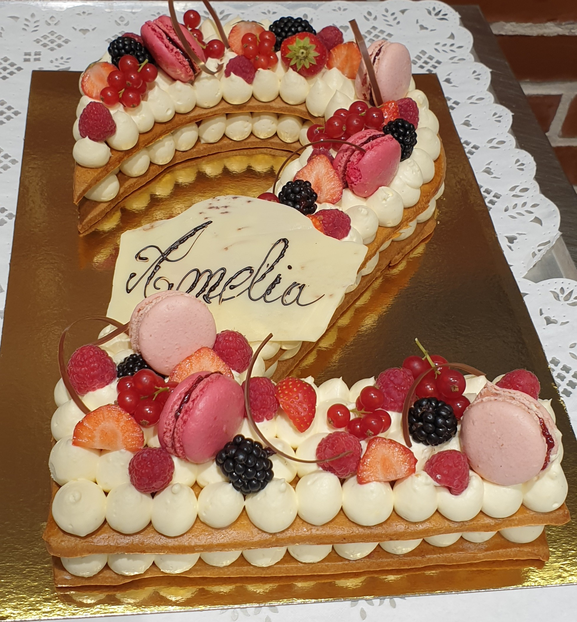 Number cake 2 aux fruits