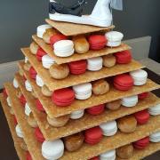 Pièce Montée Choux et Macarons Pyramide La Mie du Pain Thourotte Oise